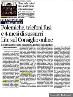 il Corriere - Sussurri e veleni fino a settembre